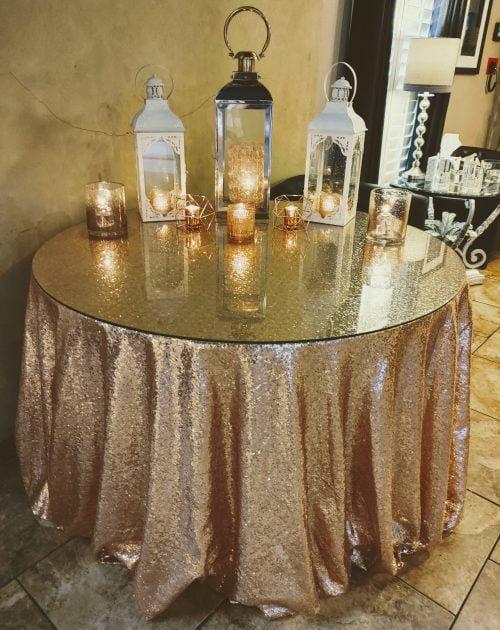 Rose Gold lantern theme